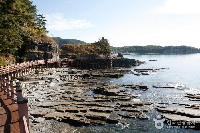 이색 해안지형에 공룡 발자국 화석, 고성 상족암군립공원